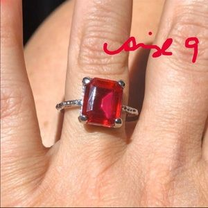 Size 9 Ruby Red Ring Brand New